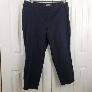 Dark Grey Ponte Ankle Pants by Dahlia Size 22W